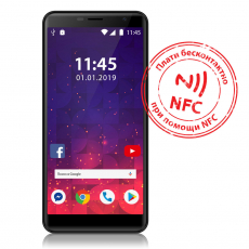 Смартфон Assistant AS 601L NFC (black) 4G
